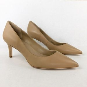Via Spiga Gya Pointed Toe Leather Nude Pump